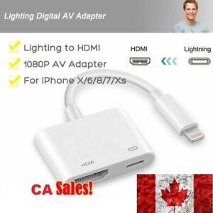 Lighting-to-HDMI-Adapter-Cable-Digital-AV-TV-1080P-For-iPhon-6-7-8-Plus-iPad-CA