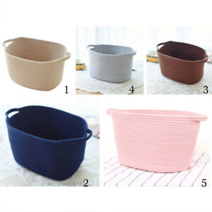 Cotton-Woven-Storage-Baskets-with-Handles-for-Kid-039-s-Toy-Laundry-Organizing