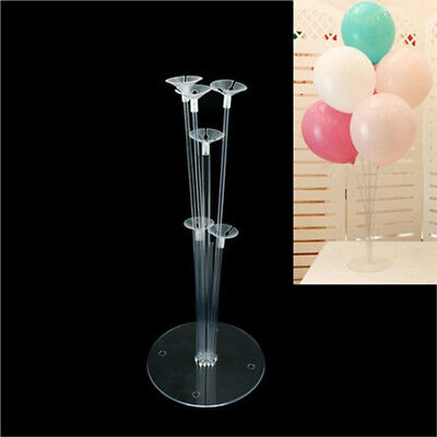 1Set Balloons Column Stand Plastic Balloon Support with 7 Tubes Party Supplies