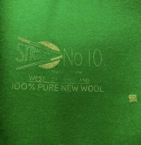 Strachan No10 Snooker Cloth For 12ft Table With Extra Cloth For Cushions No 10
