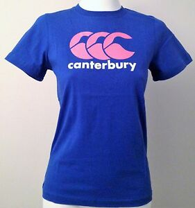 CANTERBURY PINK CCC LOGO BLUE TEE SHIRT SIZE BOYS 14 YEARS BRAND NEW WITH TAGS
