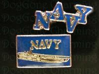 Military Navy Ship Set Of 2 Floating Locket Charms Fits Living Lockets
