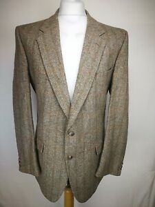 Austin Reed Mens Check Blazer Size 46r Brown Mix Pure Wool Vgc 7 Ebay