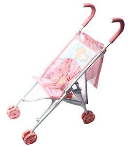 Zapf-Creation-Baby-Annabell-Puppenwagen-Stroller-m-Einkaufsnetz-zusammenklapbar