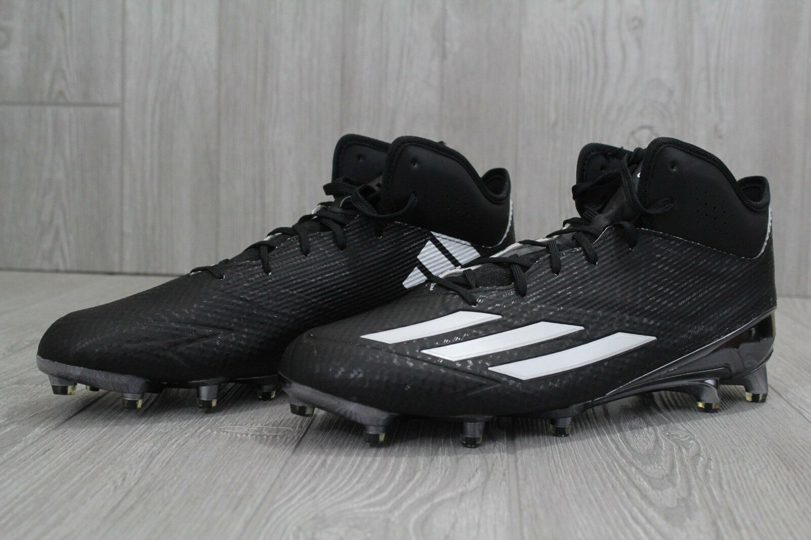 huge selection of bf2b6 df993 ... 29 New Mens Rare Adidas Adidas Adidas 5 Star Mid Black Football Cleats  Team Issued Size ...