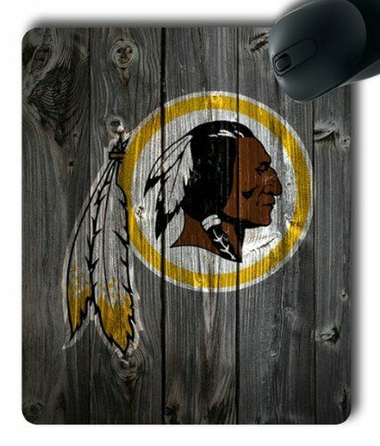 Washington Redskins on Wood Rectangle Mouse Pad by eeMuse