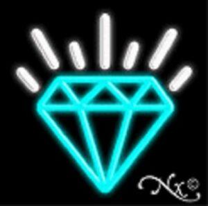 BRAND NEW DIAMOND LOGO 17x17 REAL NEON SIGN W/CUSTOM ...