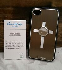 L@@K iPhone Case 4 4s Holy Element Israel Christian Jesus Soil Brown Cross NEW !