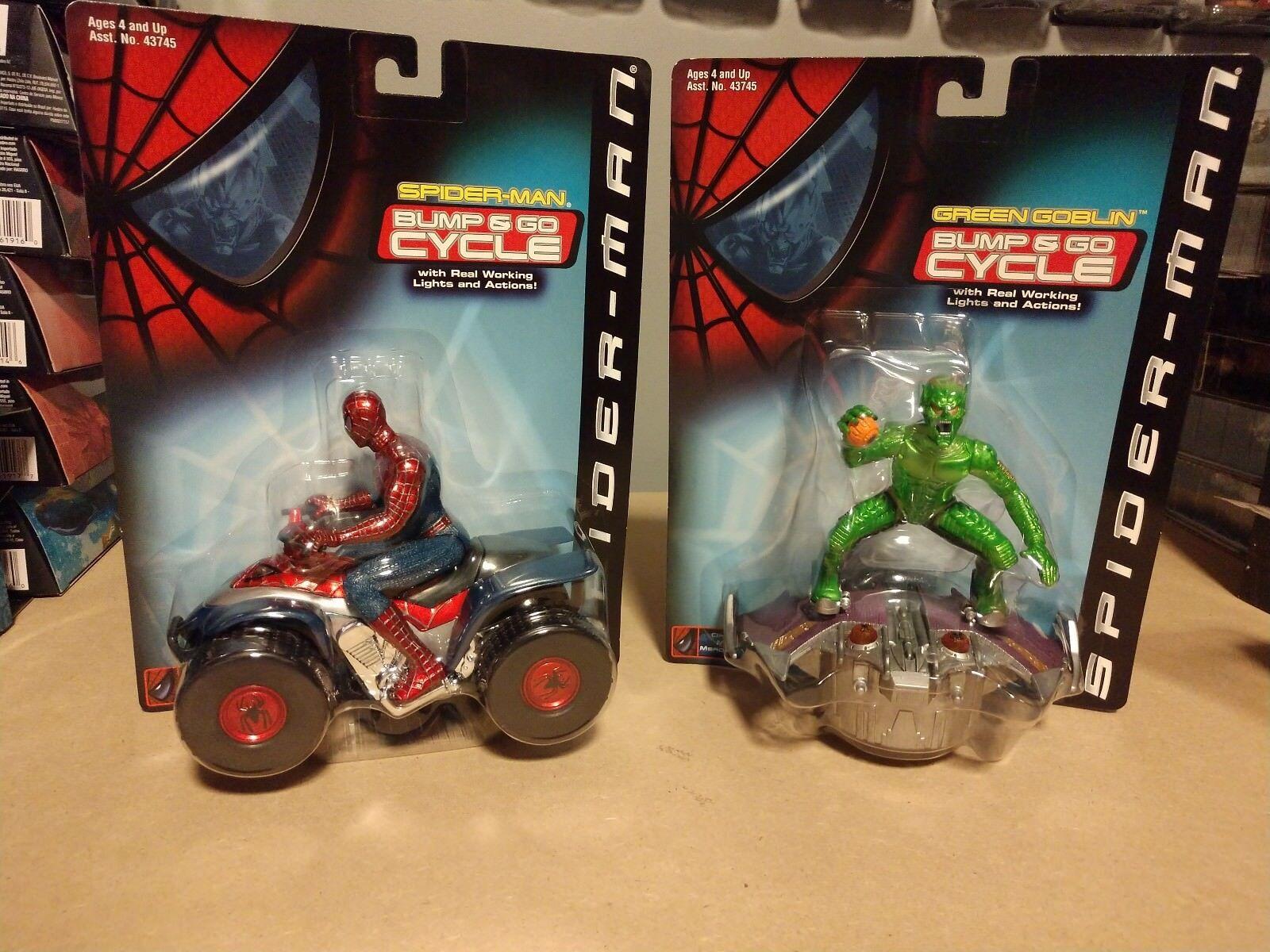 2001 nouveau Spider-Man the Movie vert  Goblin & Spider-Man Bump and Go Cycles, NICE  commandez maintenant avec gros rabais et livraison gratuite