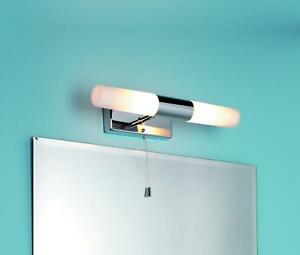Image Is Loading Ip44 Bathroom Double Wall Light Pull Cord Switch