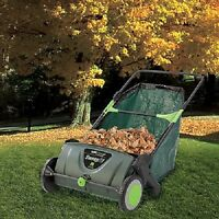 Sweep It 21-inch Lawn Sweeper Outdoor Garden 26-gallon Basket Grass Clipping