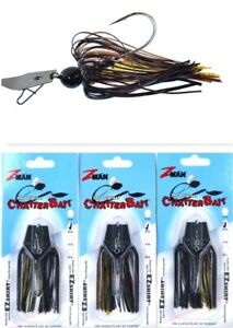 (3) Z-Man 3/8 Oz The Original Chatterbait Fishing Lure Bayou Craw CB38-71 New