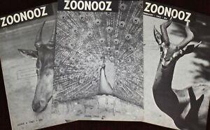 Walt Disney Studio Library 1960's LOT OF 3 ZOONOOZ Animator Joe Hale Bob Metzler