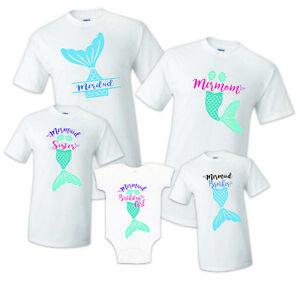 Image Is Loading Birthday Mermaid Family Shirts Merdad Mermom Sister