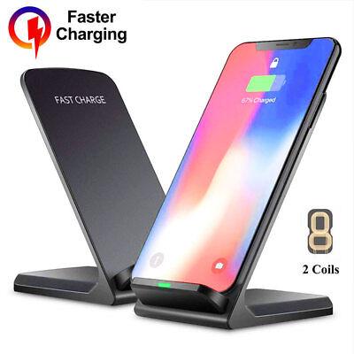 Qi Wireless Charger Schnelles Ladegerät Ladestation für Samsung Galaxy S10 Plus | eBay