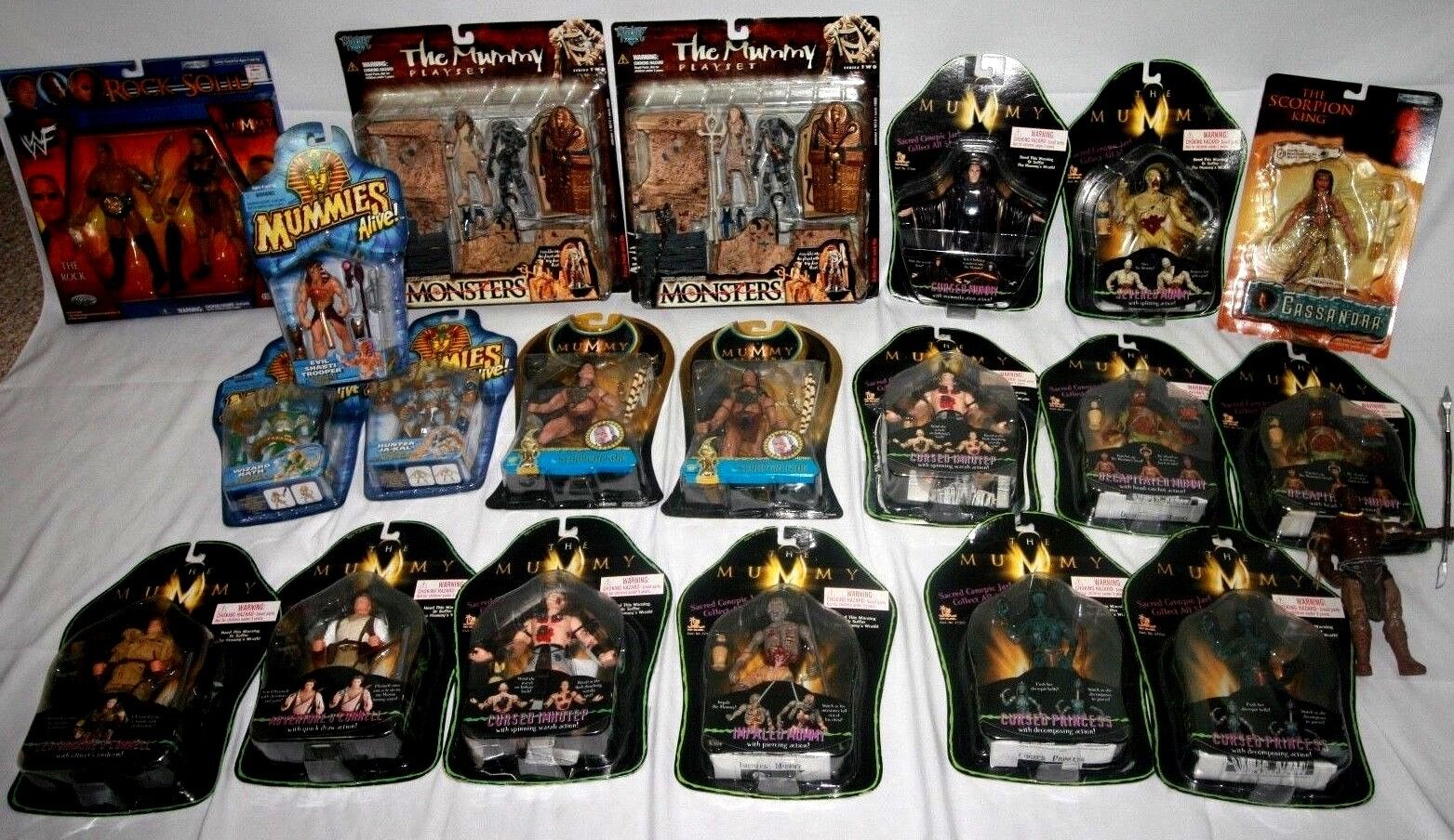 Lot of 21,  The Mummy  Action Figures, 20 New in Box, Excellent Assortment