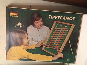 Brio De Suède 1970's Tippecanoe Jouet Vintage En Bois 31816