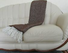 Woll Plaid Englische Wolldecke Tagesdecke aus Wolle Decke Blanket 140x200