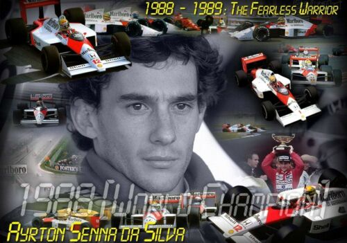 Ayrton Senna Legend Giant 1 Piece  Wall Art Poster SP225