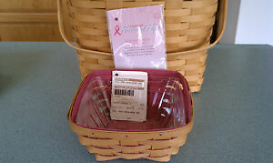 Longaberger-July-2013-Horizon-of-Hope-Inside-Booking-basket-protector-PINK-New