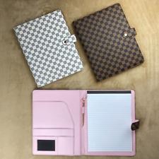 Luxury Checkered Portfolio Pad Binder Journal Diary Notepad Organizer