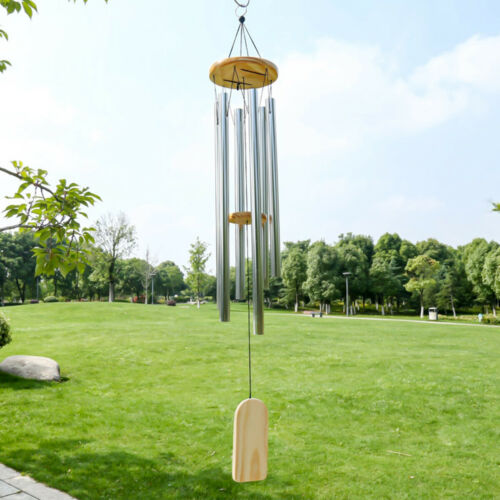 "Wind Chimes Large Tone Resonant Bell 5 Tubes Chapel Church Garden Decor 29/"""
