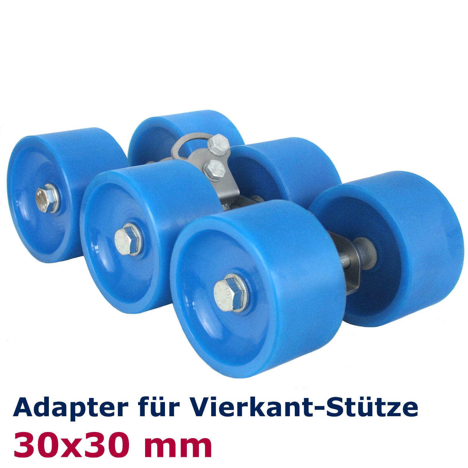 ⚓ XL - Polyurethan 6er Slipwagen Polyurethan - BlauLINE Sliprolle Ø120 Adapter 30/40 mm df8e7a