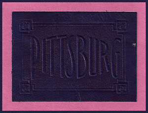 VINTAGE-1908-OLD-University-of-Pittsburgh-Panthers-Tobacco-Leather-RARE