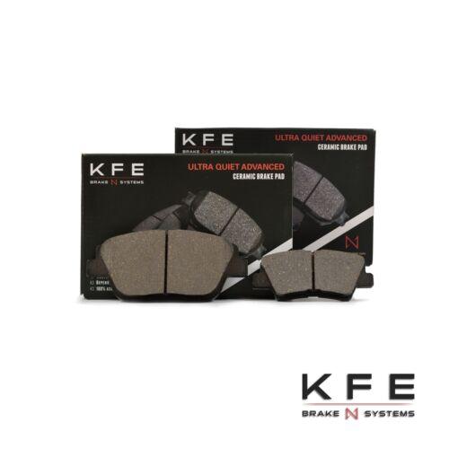 FRONT REAR NEW Premium Ceramic Disc Brake Pad Set Plus Shims KFE1444 KFE1313