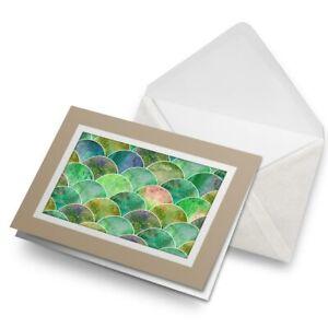 Greetings-Card-Biege-Emerald-Green-Mermaid-Scales-2544