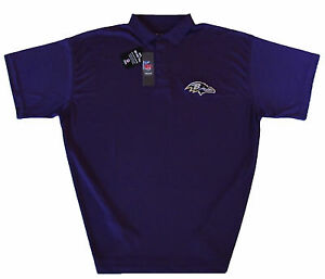 Baltimore-Ravens-Men-039-s-NFL-Team-Purple-Performance-Polo-Shirt-Size-3XL