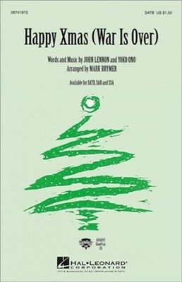 SATB and Piano Choral Score HL08741973 5 copies Happy Xmas War is over