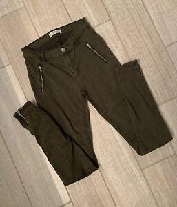 Zara Sz Premium 2 Collection Pantaloni Denim Olive Green TFwOTqCd