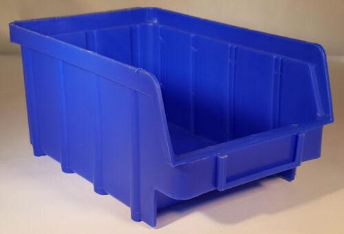 100 Stapelboxen Gr.2 Kunststoff PP blau Sichtlagerkästen Stapelkästen Lagerboxen