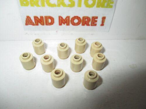 Lego 10x brique ronde brick round open stud 1x1 3062 Tan//Sand