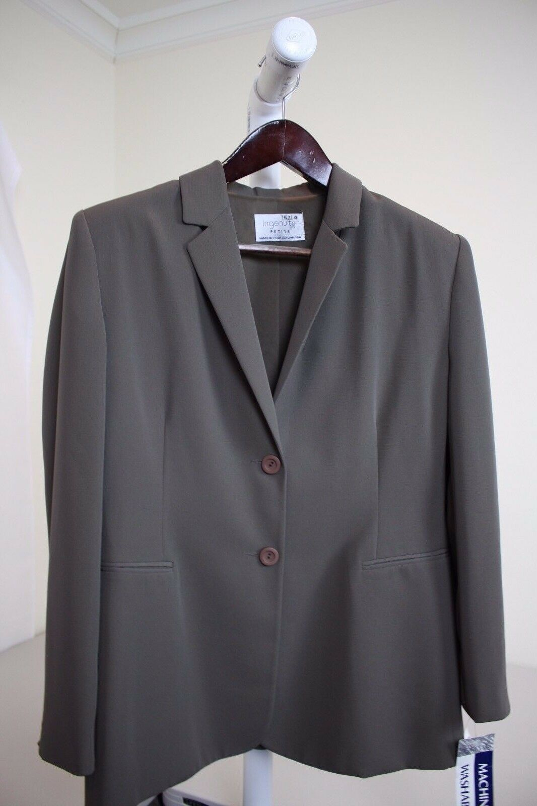 Ingenuity 100% Polyester Green 2 Button Lined Blazer Size - 14P
