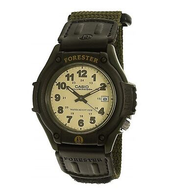 Casio New Original FT-500WC-3 Forester Mens Watch Analog Green Nylon Band FT-500