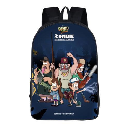 UK Gravity Falls Backpacks Anime School Bags Rucksack Travel Laptop Cartoon Gift