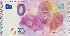 BILLET-0-EURO-VALLEE-DES-SINGES-FRANCE-2015-NUMERO-2200