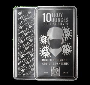 10-oz-Envela-0-999-Silver-Bar-CV-Essential-Workers-Stamp-May-Edition