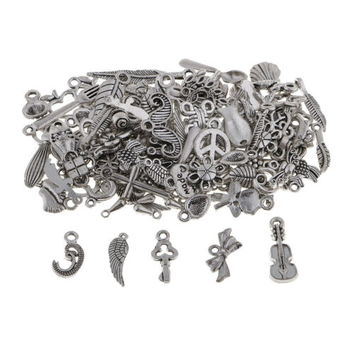 100x Many Style Alloy Charms Pendants Findings for DIY Wedding Party Jewelry