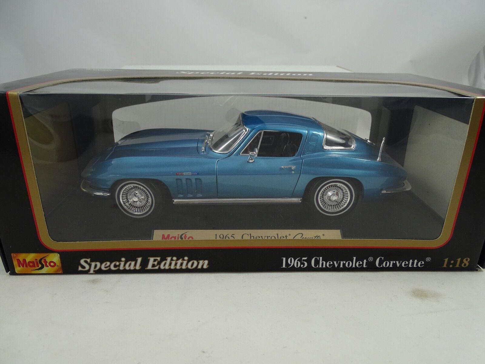 1 18 Maisto Special Edition  31640 - 1965 Chevrolet Corvette Blaumetal  RARITÄT   | Grüne, neue Technologie
