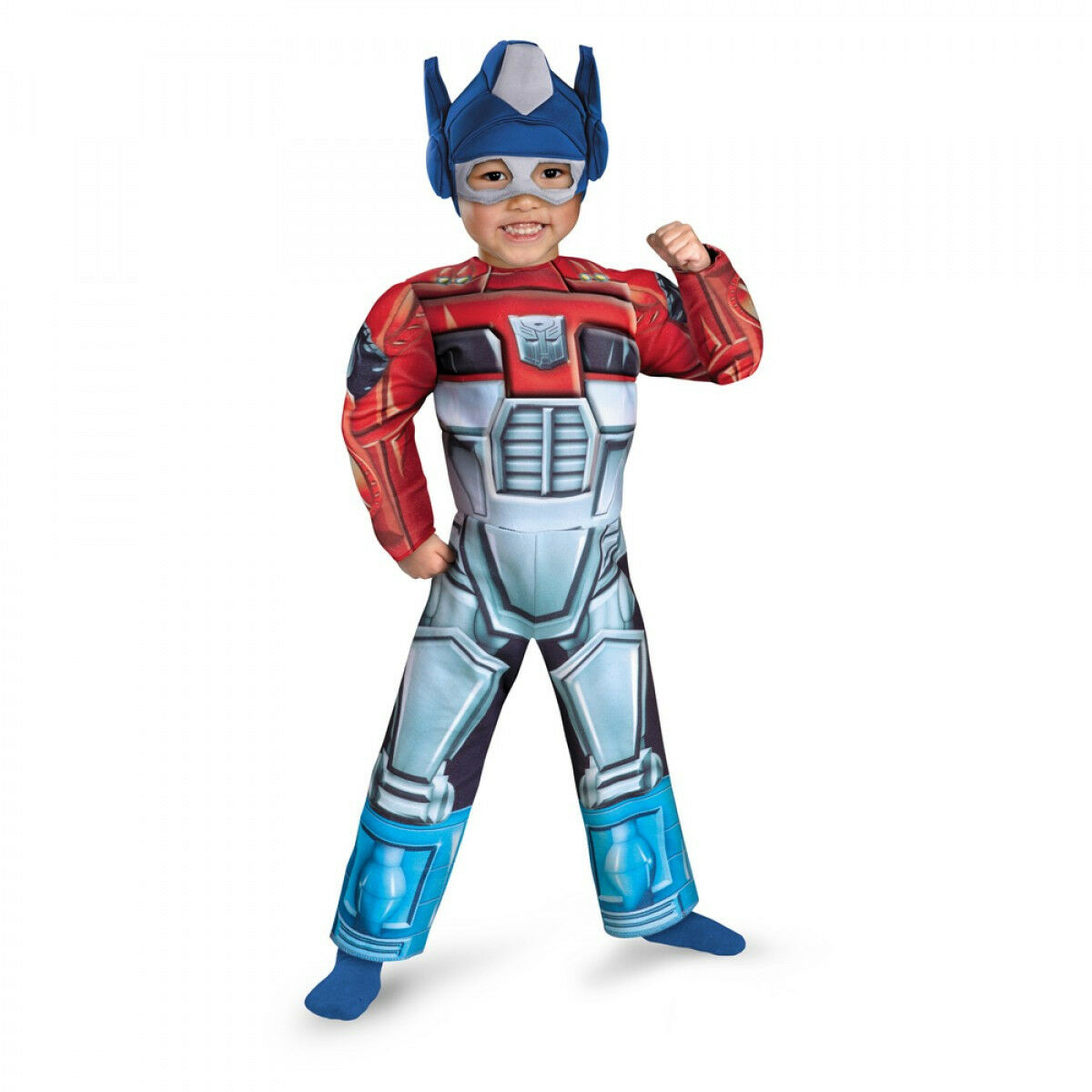 TODDLER OPTIMUS PRIME RESCUE BOT COSTUME SIZE TD  3T-4T missing headpiece