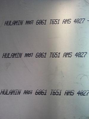 """SHEET  6061-T6 5//8/"""" x 24/"""" x 24/"""" ALUMINIUM PLATE"""