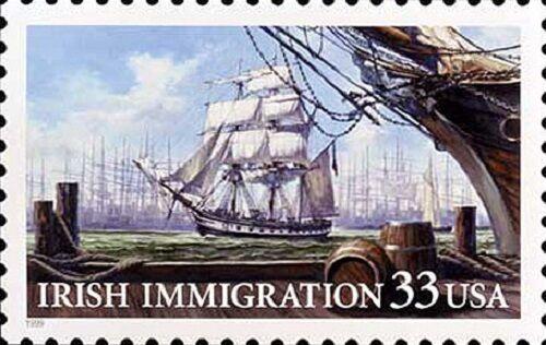 1999 33c Irish Immigration, Clipper Ship Scott 3286 Min