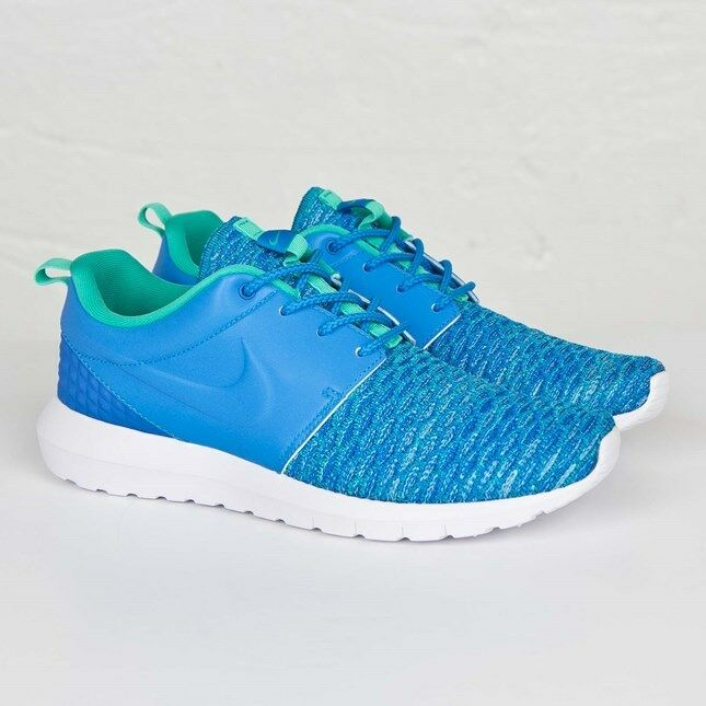 Nike Roshe NM Flyknit Premium 746825-400 Photo Blue Men Comfortable  Comfortable and good-looking
