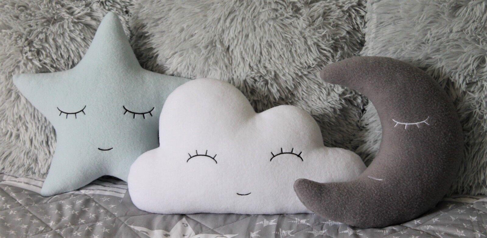 Conjunto de almohadas   Nube,   estrellas, Luna   Bebé   Nube, Los niños   Regalo   Decoración   Cuarto de los niños 600570