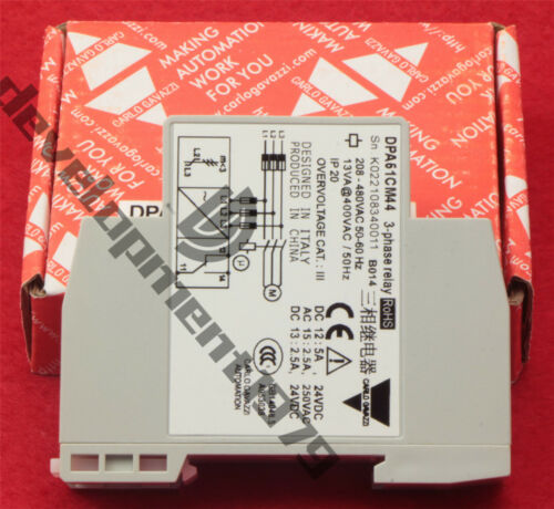 Carlo Gavazzi 3-PHASE Monitoring Relay DPA51CM44