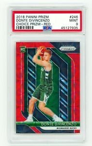 DONTE-DIVINCENZO-2018-Panini-Prizm-246-CHOICE-RED-88-PSA-9-MINT-ROOKIE-RC