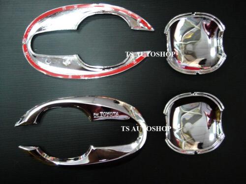 CHROME Set 4Dr HANDLE INSERT BOWL FOR TOYOTA HILUX VIGO CHAMP SR5 2011-2014 V.5